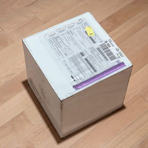 Package with slip attached