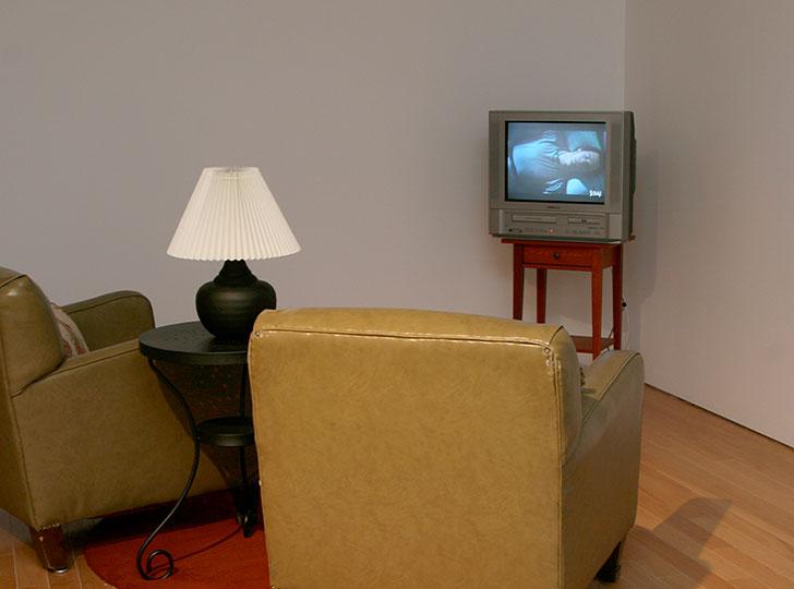 """Installation view of Kelly Mark: Stupid Heaven, 2007"""