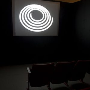 """Installation view of Projections, 2007. Image credit: Toni Hafkenscheid. Gar Smith, Notes on Light, 1969-70. 1200 35 mm colour slides and 3 sound tapes, 5.1 x 5.1 cm each. National Gallery of Canada, Ottawa"""