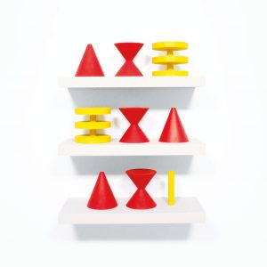 geometric yellow and red images for Robert Fones Signs exhibition
