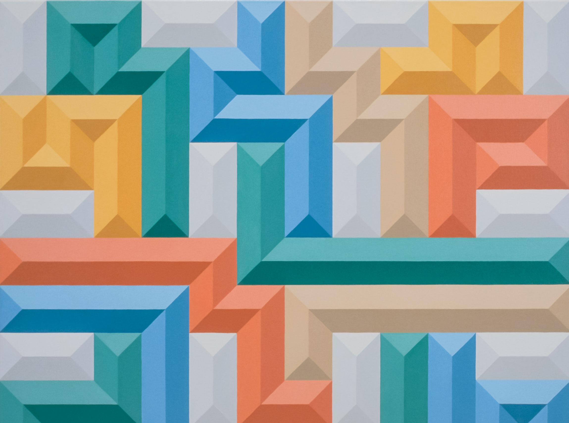 Multicolour geometric pattern