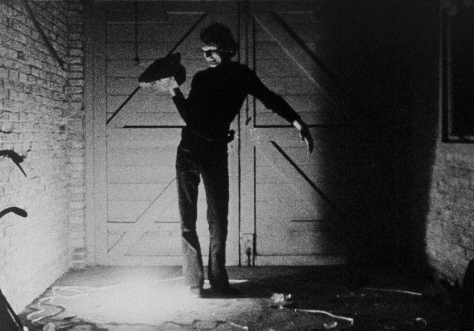 Still from black and white film