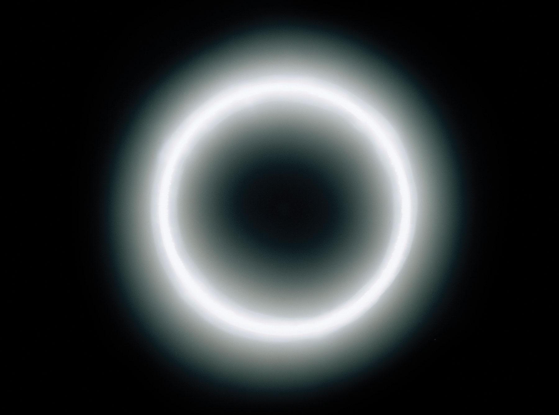 Ring of light in dark background