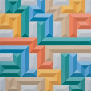 multicoloured geometric shapes