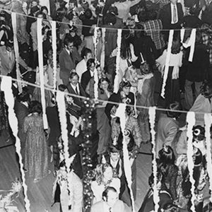 Vintage photo of people partying