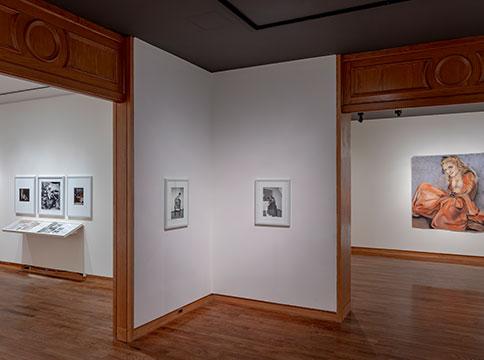 Framed works by Lorenza Böttner in gallery