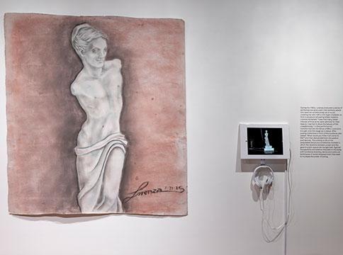 Lorenza Böttner painting installed on wall