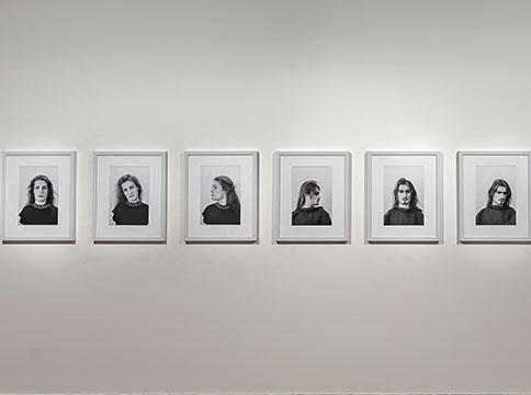 Framed images of Lorenza Böttner's face art