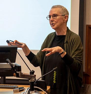 Lynda Jessup lecturing