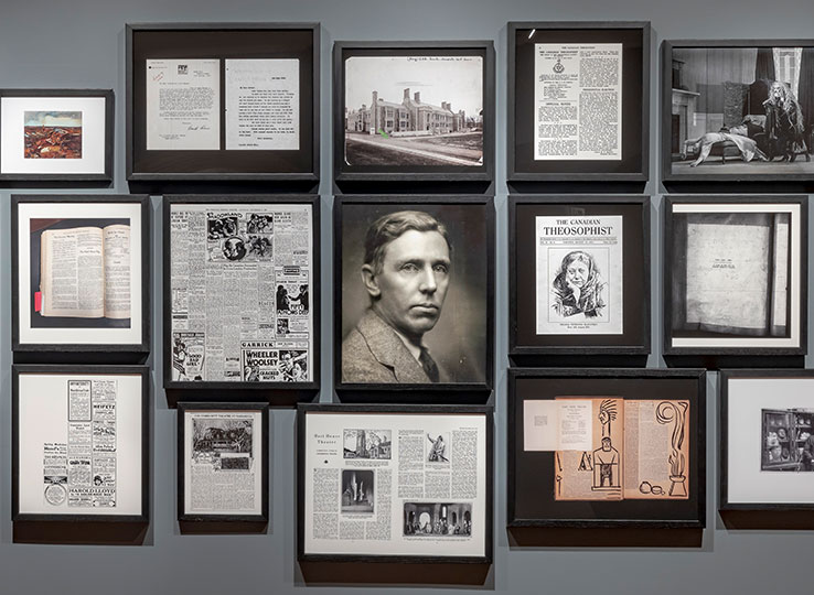 "Framed documents about the putting up of ""God of Gods"""