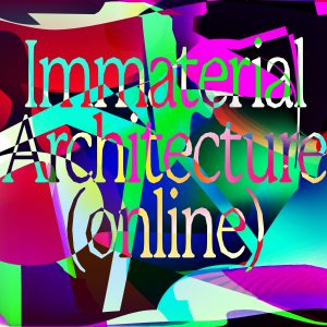 Inmaterial Architecture logo against graphic background