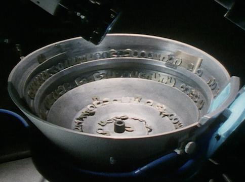 metallic bowl with metal pieces