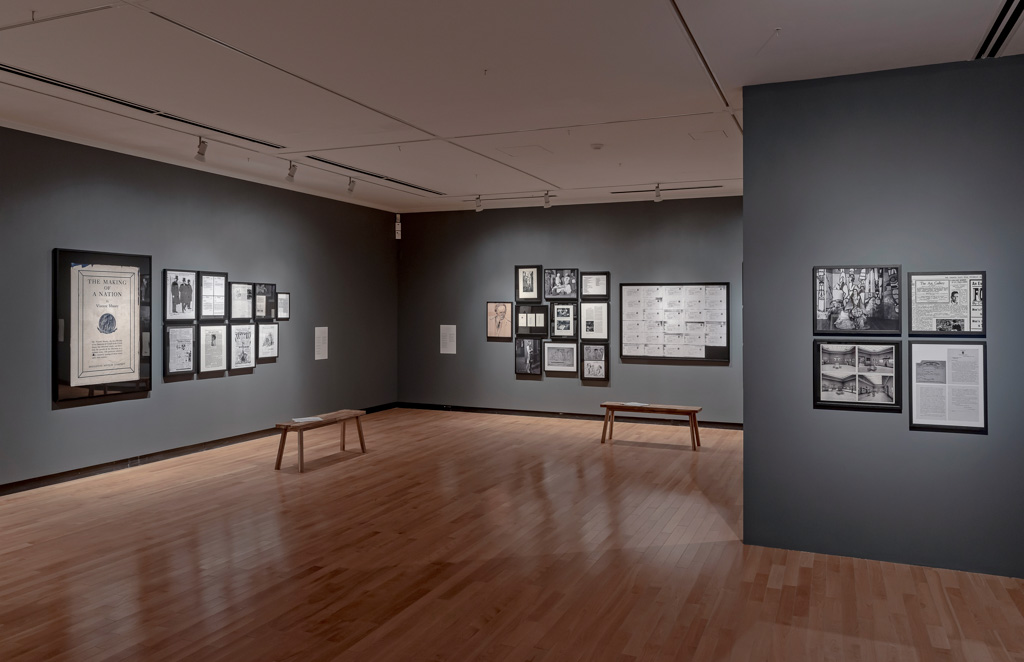 Installation view of God of Gods: A Canadian Play at the Justina M. Barnicke Gallery