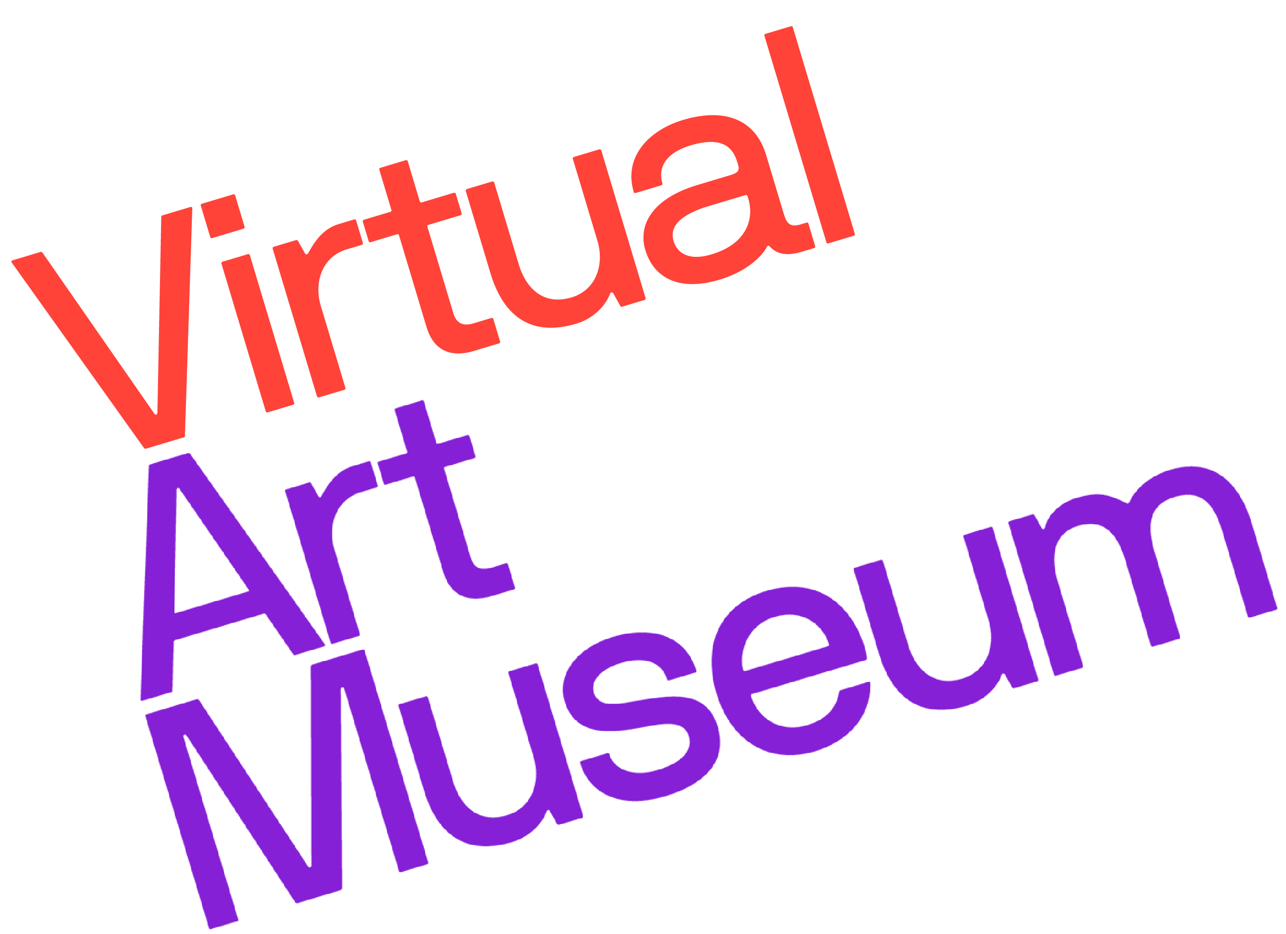 Virtual Art Museum logo in red and purple